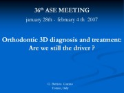 36th Congresso Angle Society of Europe: Conferenza Dr G.B. Garino