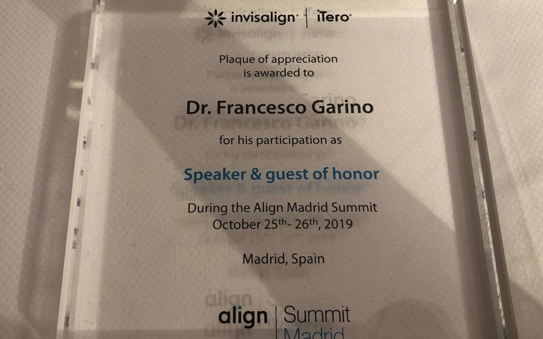 Iberia Forum Align, Madrid, 25-26 ottobre 2019: conferenza Dr Francesco Garino