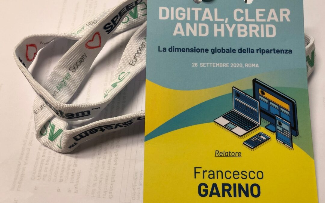 Digital Clear & Hybrid, Rome september 26 2020 : lecture Dr F Garino